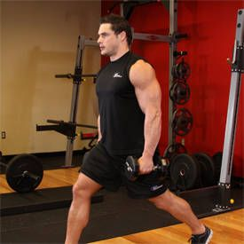 Dumbbell Lunges 1