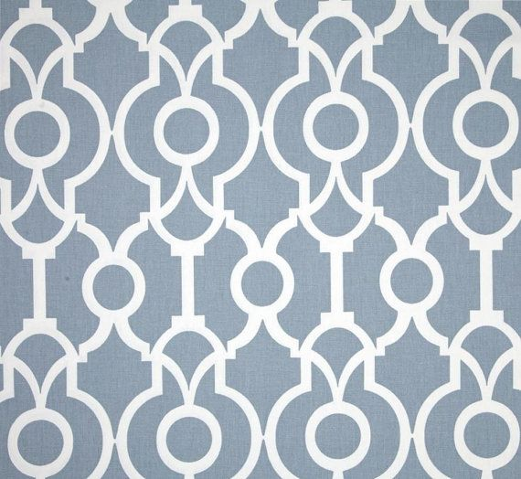 Contemporary Chambray Blue Fabric By The Yard Geometric Fabric Designer Home  Decor Fabric Curtain Fabric Drapery