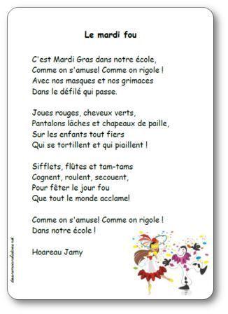 Poésie Le mardi fou Hoareau Jamy