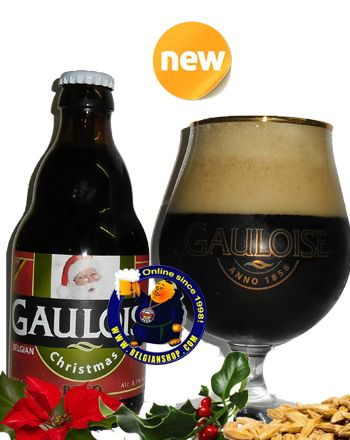 Our New Beer: La Gauloise Christmas 8.1° Pours a dark brown body with a brilliant red hue. The ligh-brown head is large, creamy and very dense. Very sweet and rich aroma, lots of malts and brown sugar, molasses, rich, dark dried fruits, orange peel, maybe some spices. ... Available online at http://store.belgianshop.com/christmas-beers/1488-gauloise-christmas-81-13l.html