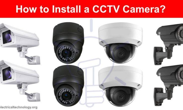 How To Install A Cctv Camera Cctv Camera Installation With Dvr Cctv Camera Cctv Camera Installation Installation