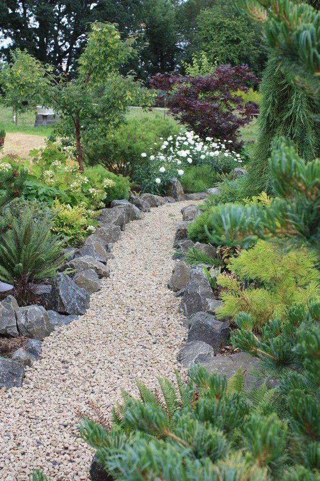 19 Diy Garden Path Ideas With Tutorials Stone Edged Gravel Path