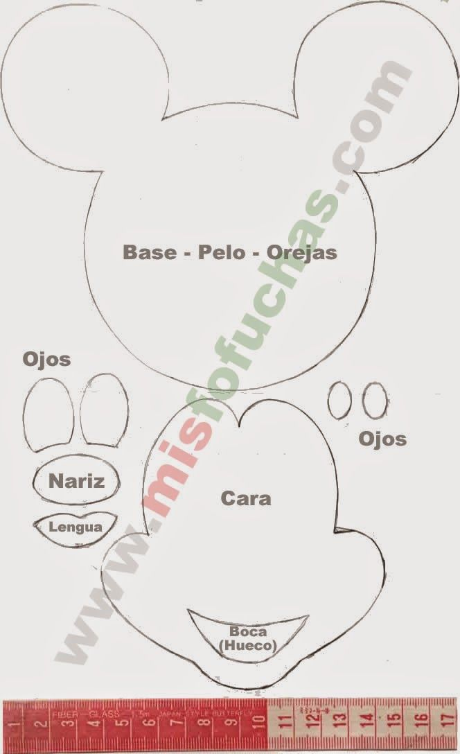 patrones+moldes+mickey+mouse.jpg (664×1088)
