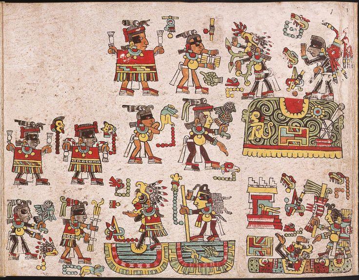 """Códice Mixteco Nutall, lámina 1 El códice se llama también Tonindeye o """"Historia de los Linajes"""""""