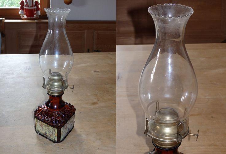 Large Glass Petroleum Lamp Finger Petroleum Lamp Oil Lamp Light, Brown petroleum Lamp, Table Lamp, Desk Lamp, Primitive Lamp von werorowe auf Etsy