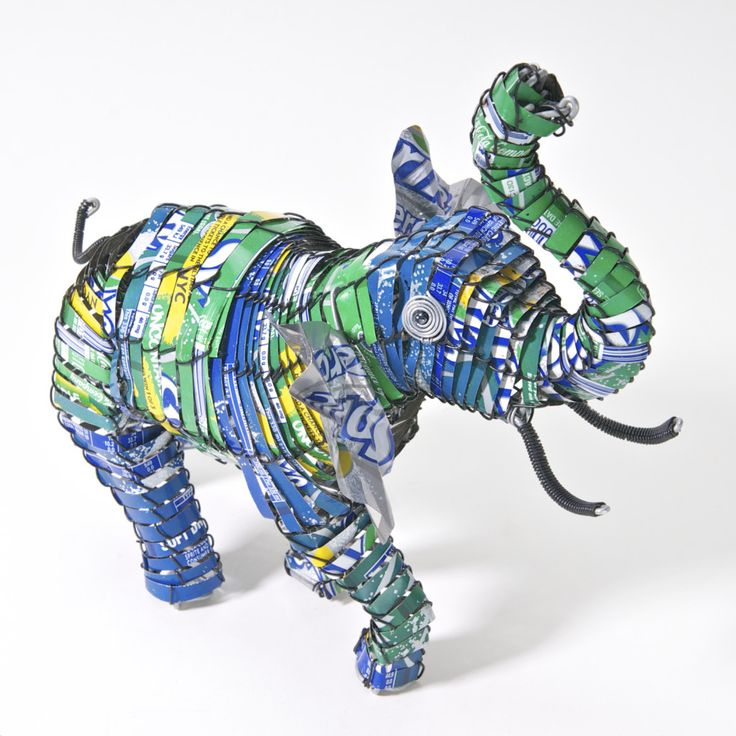 Elephant Can art -  Soda cans Sprite cans  #projectza #capetown #southafrica