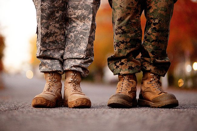 military couple engagement photography
