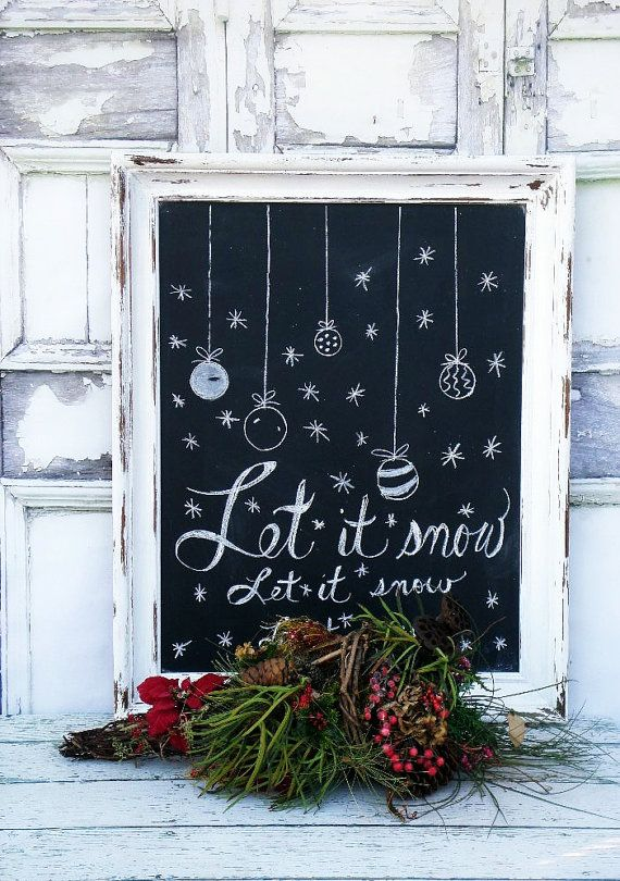 C H R I S T M A S Chalkboard Holiday Menu Board Wedding Restaurant Sign Wedding