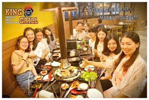 at King Grill with Best friends. 치즈 바베큐 레스토랑 Cheesy Korean BBQ Restaurant, King Grill, Samyan, Bangkok, Thailand #Cheese #Cheesy #Korean #BBQ #Buffet #Restaurant #Kinggrill #chula #impark #Samyan #Bangkok #Thailand