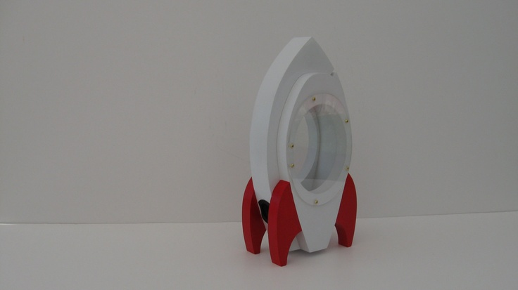 Rocket ship bank white red via etsy piggy banks pinterest etsy - Rocket ship piggy bank ...