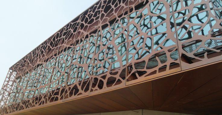 Cantina Zymè con rivestimenti in acciaio corten -  Cellar with coatings Corten steel Corten treated Copperture ox 43 #corten #steel #copperture #cellar