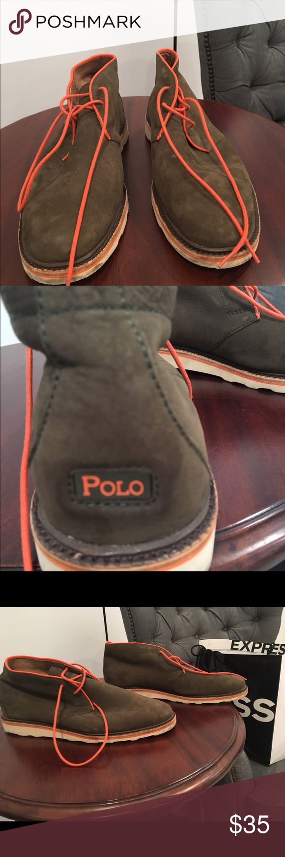 Polo Ralph Lauren Whiston Men's Chukka Ankle Boots Polo Ralph Lauren Whiston Men's Chukka Ankle Boots 2 Eye Shoes Green - size 10 1/2 ( EXCELLENT CONDITION - WORN ONCE) Polo by Ralph Lauren Shoes Chukka Boots