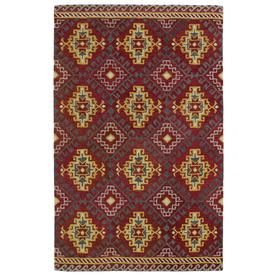 Kaleen Global Inspiration Red Rectangular Indoor Handcrafted Southwestern Area Rug (Common: 9 X 12; Actual: 9-Ft W X 12-