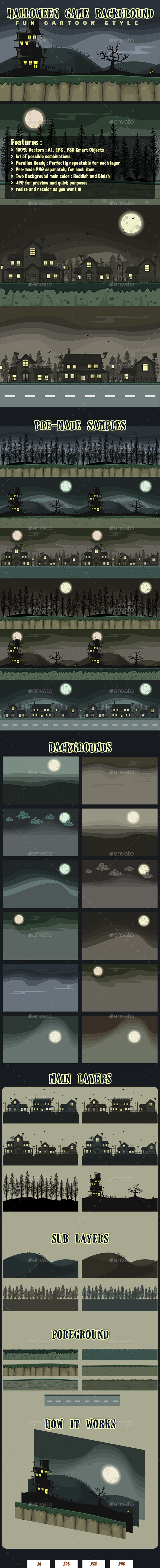 Halloween - Creepy Game Background Collections (Backgrounds)