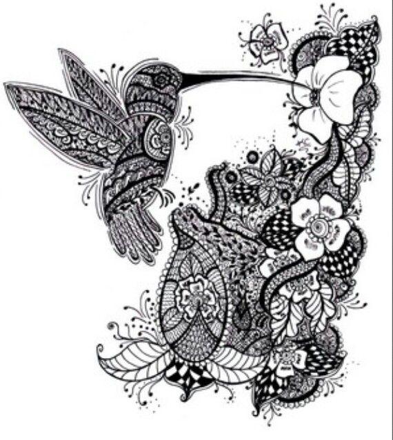ber ideen zu kolibri tattoo schwarz auf pinterest. Black Bedroom Furniture Sets. Home Design Ideas