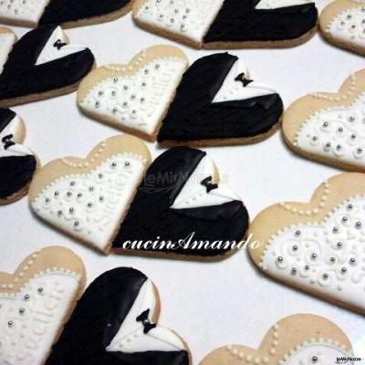 #biscottini a forma di #cuore, utilizzabili anche come segnaposto!