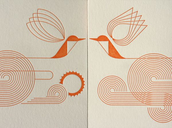 Mid Century Modern Typographic Letterpress Wedding Invitations. By far the nicest wedding invites I've seen so far on my travels