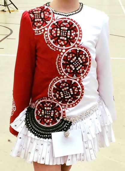 Eye Catching White Celtic Solo Irish Dance Dress Solo Costume For Sale