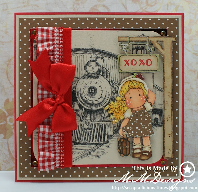Scrap-a-licious-times: Magnolia XOXO Train Card.