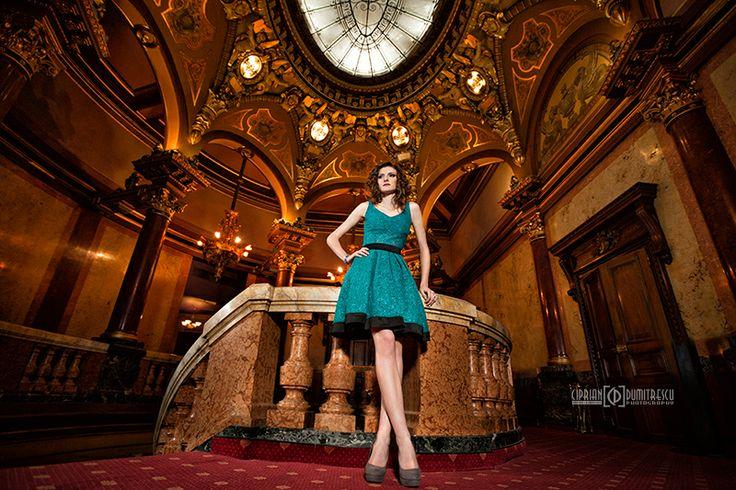 Rochita turcoaz - Cristina Fashion - fotograf Ciprian Dumitrescu