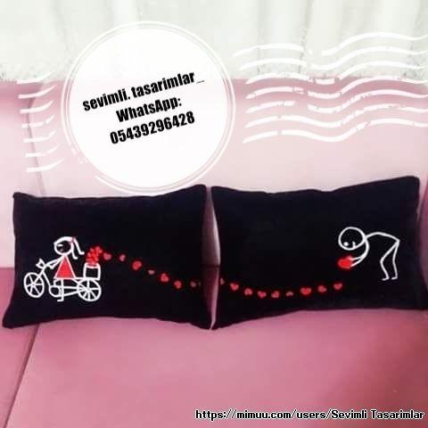 Kişiye Özel Tasarım Yastıklar ,  #çiftyastıkları #sevgiliyastıkları #sevgiliyeyastıkhediye #yastıkhediyefikirleri , istenilen renk ve modelde sipariş alınır          ...