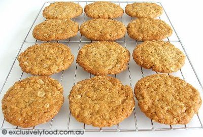 This recipe produces thin, chewy biscuits. If you would prefer softer, thicker biscuits, please see our other Anzac biscuit recipe . Prep...