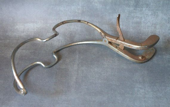Surgical Mouth Gag - Vintage Medical Curiosity. Rusty, Crusty and Creepy Vintage Dental Gag on Etsy, $25.00