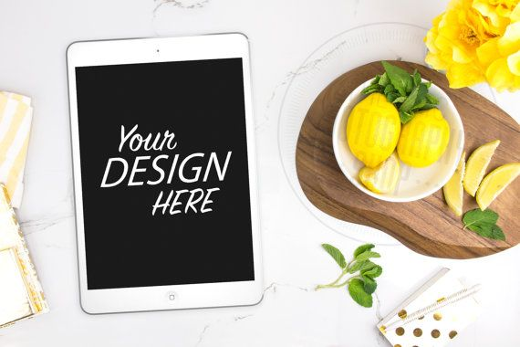 Styled Stock Background / Stock Photography / ipad / tablet / mobile / Website / Web Design / tech / Kitchen Fruit Lemon Yellow Gold / T005