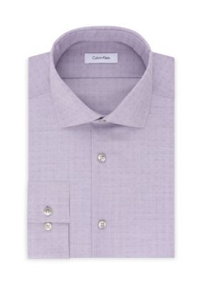 Calvin Klein Men's Calvin Klein Steel Non Iron Performance Slim Fit Dress Shirt - Purple - 15.5 32/33
