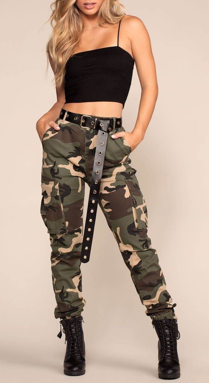 Hermoso Outfit Con Pantalon Militar Ropa Camuflada Ropa Moda De Ropa