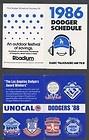 1988 LA DODGERS MLB BASEBALL POCKET SCHEDULE - 1988, Baseball, Dodgers, Pocket, SCHEDULE