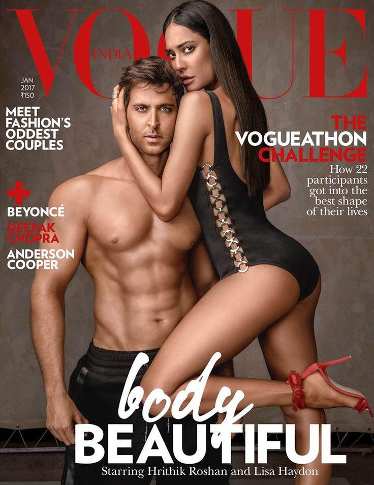 Hrithik Roshan & Lisa Haydon for Vogue India January 2017