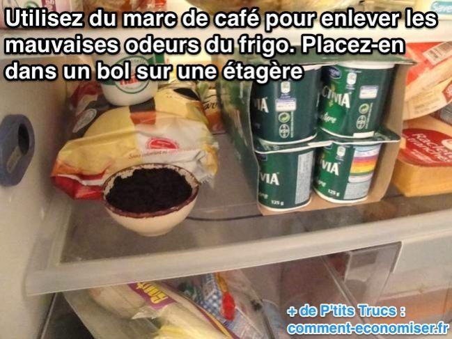 Utilisez du marc de café contre les mauvaises odeurs du frigo