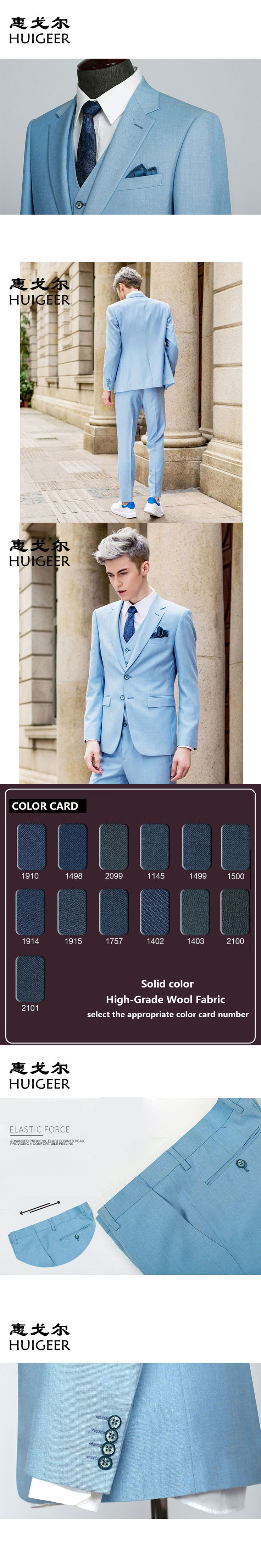 Haute Tailor-made Suits,England Style,Skinny Fit Wool Suit ,Wedding suits ,3 pieces(Jacket & Pant & Vest)