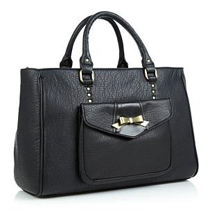 Valentino Black bow logo tote bag - Shopper & tote bags - Handbags & purses - Women - Debenhams Mobile