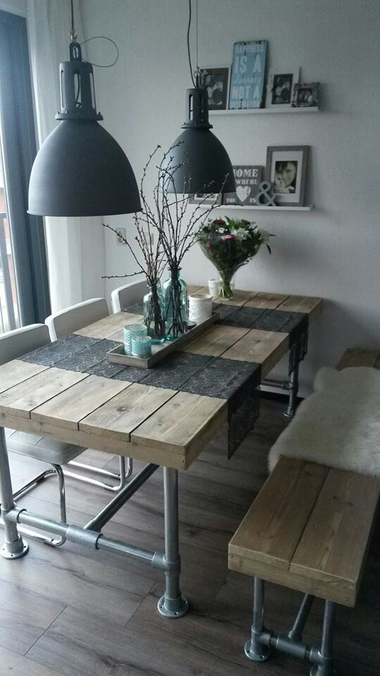 DIY Black Iron Pipe Table httpstmejoinchat