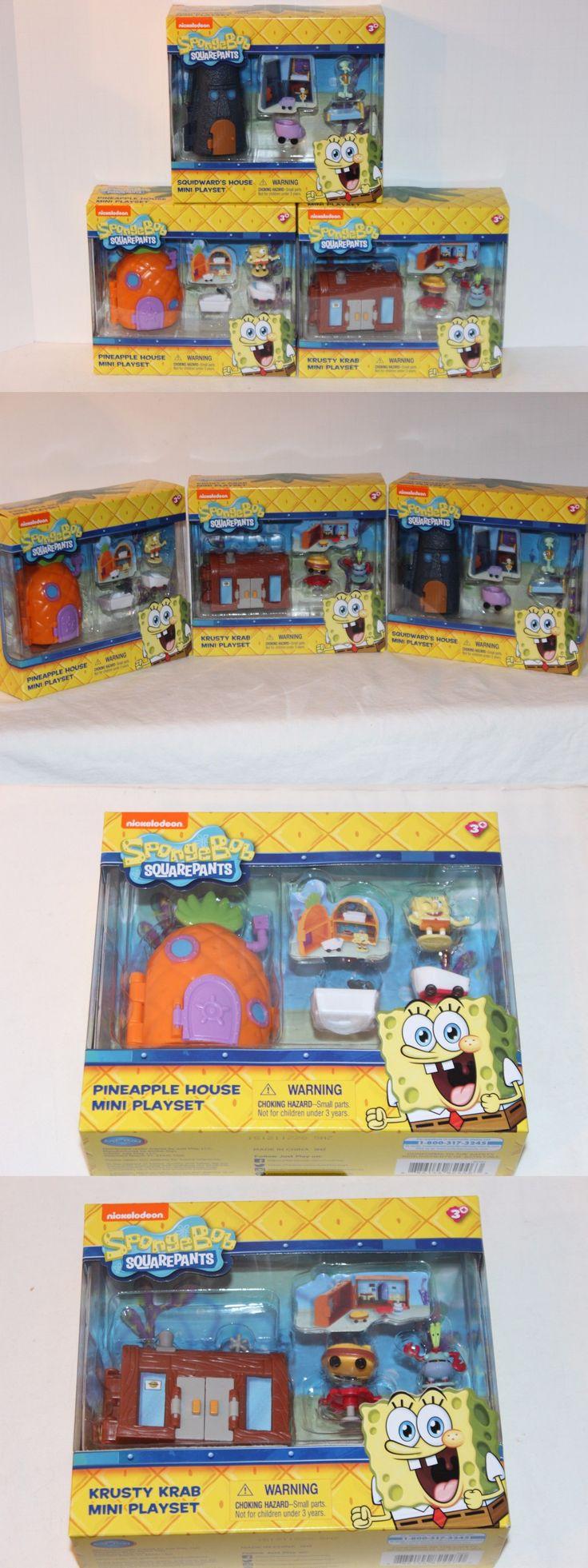 SpongeBob Squarepants 20919: Spongebob Mini Playsets Pineapple And Squidward House Krusty Krab Simba Nib 3+ -> BUY IT NOW ONLY: $47.69 on eBay!