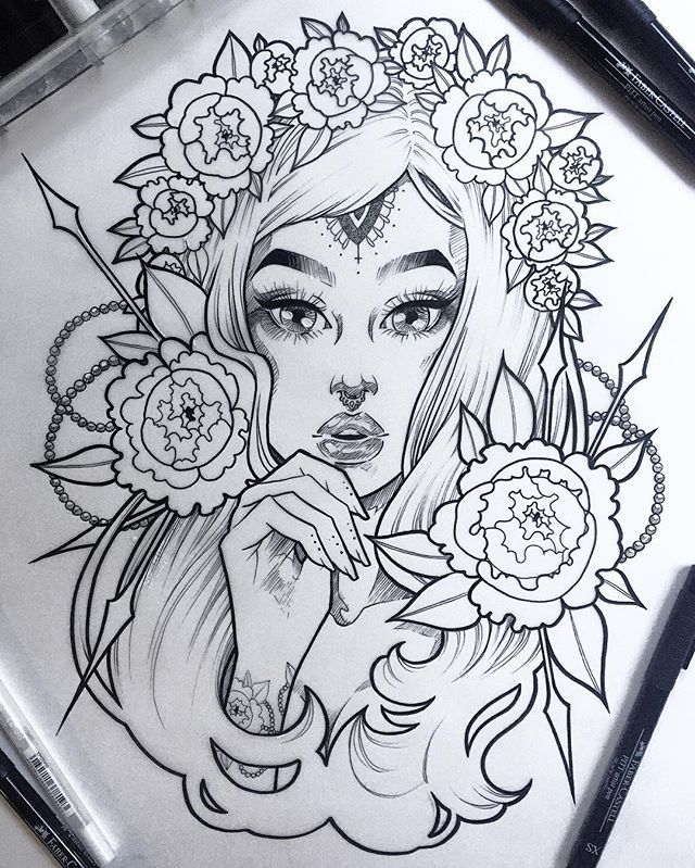 One of two versions of this lass The other will be watercolors. For now, it…