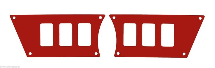 STV Polaris RZR XP1000 Side Dash Switch Plates (6 Switch, Available in Black, Blue, Orange, and Red)  $59.95