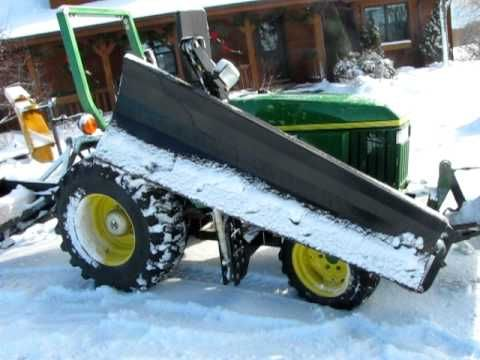 John Deere 3005 (790) Compact Utility Tractor with fabricated RH wing snow blade attachment. - YouTube