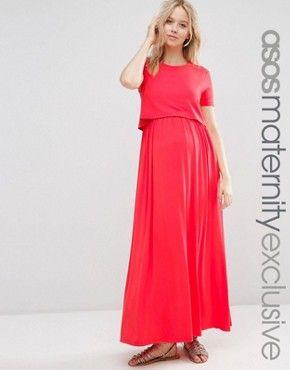 asos maternity robe longue dallaitement double paisseur - Robe D Allaitement Pour Mariage