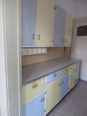 Omas Küchenbuffet 50er Küchenmöbel Schrank Küche Buffet Pastell
