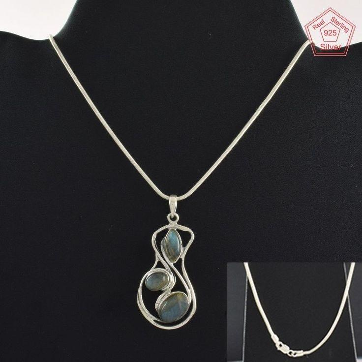 Labradorite Stone Fashion Design 925 Sterling Silver Necklace NK2962…