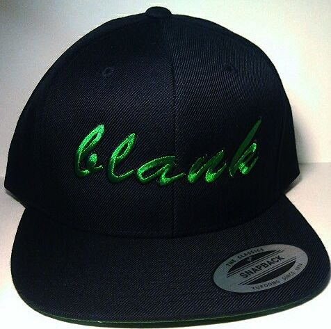 Blankhatsforcharity snapback green and black  www.Blankhatsforcharity.com