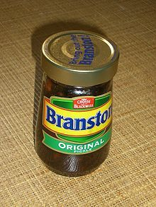 Branston pickles with a good cheddar cheese in a sarnie... Life is good!