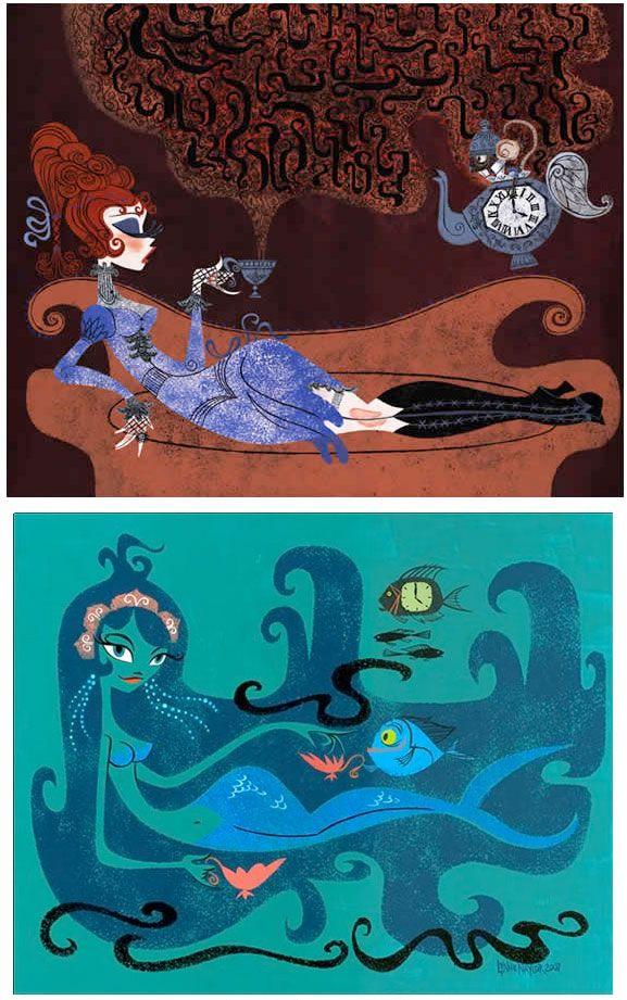 Lynne Naylor: 2D Art, Illustrations Iv, Character Design, Lynne Naylor, 60 S Illustrations