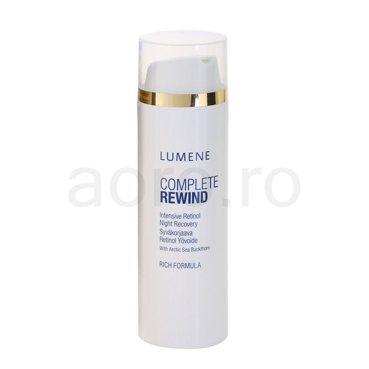 Lumene Complete Rewind crema de noapte intensiva cu retinol (Intensive Retinol Night Recovery with Arctic Sea Buckthorn) 50 ml