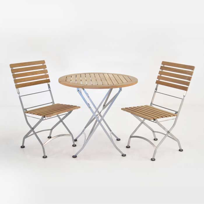 42 best images about outdoor dining sets on pinterest capri dining sets and teak - Round teak table and chairs ...