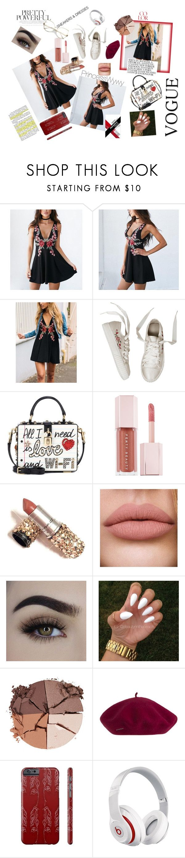 """""""Pretty powerful sneakers and dresses"""" by princesswywy ❤ liked on Polyvore featuring Dolce&Gabbana, Puma, lilah b. and Beats by Dr. Dre"""
