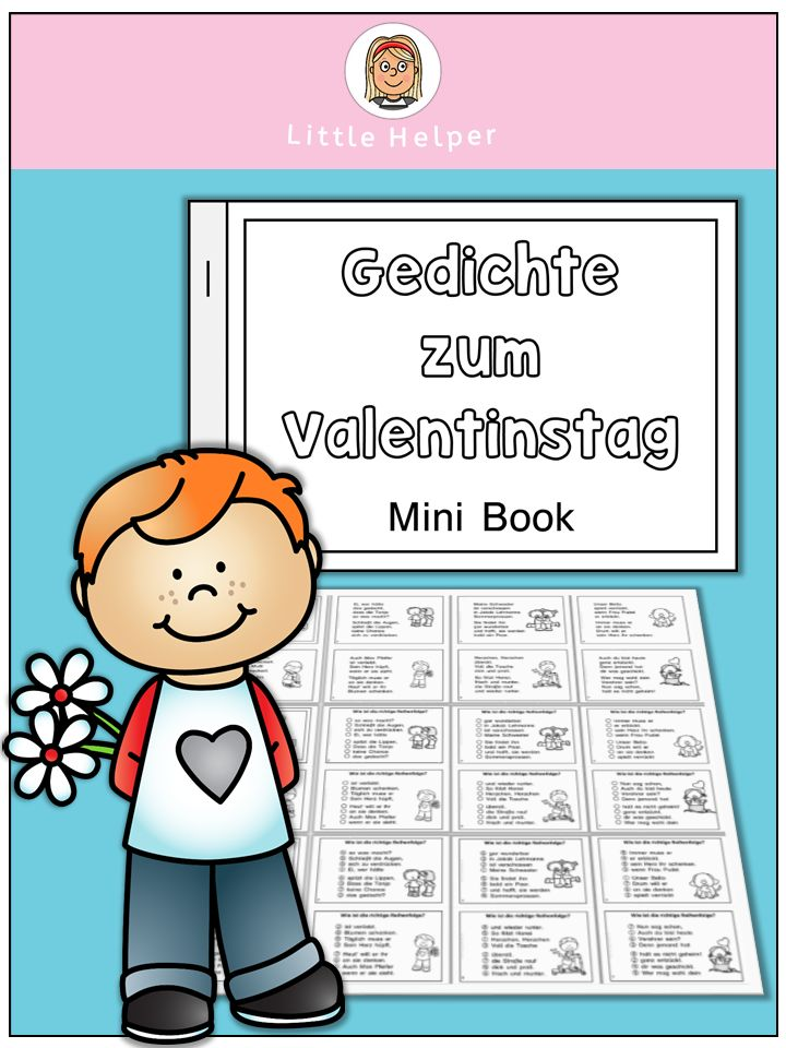German Mini Book Gedichte Zum Valentinstag | Teaching Ideas And Language